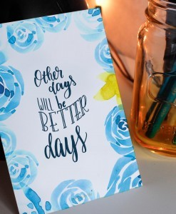 Other Days will be better days - Lettering Postkarte