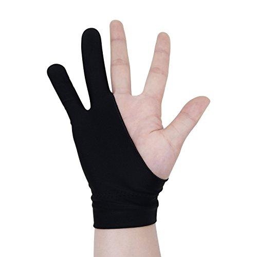 Zwei-Finger Handschuh für das Arbeiten an Tablets