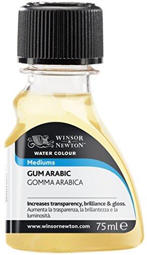 Winsor & Newton 2621763 Aquarell Gummi Arabikum für Aquarellfarben, verlangsamt die Trocknungszeit, erhöht den Glanz und die Transparenz der Farbe, 75ml Flasche