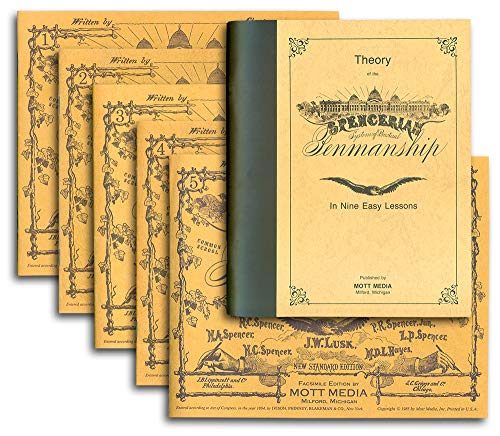 THEORY BK & 5 COPYBOOKS (Spencerian Penmanship)