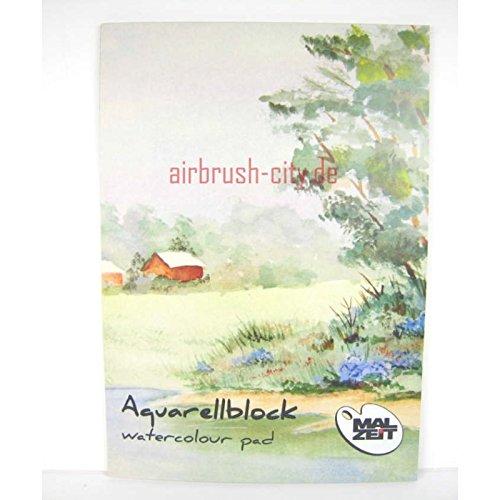 Malzeit Aquarellblock Din A4 matt 210g/m², Din A4, 10Blatt