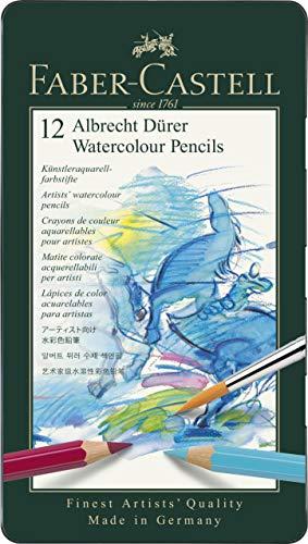 Faber-Castell 117512 - Aquarellstifte Albrecht Dürer, 12er Metalletui