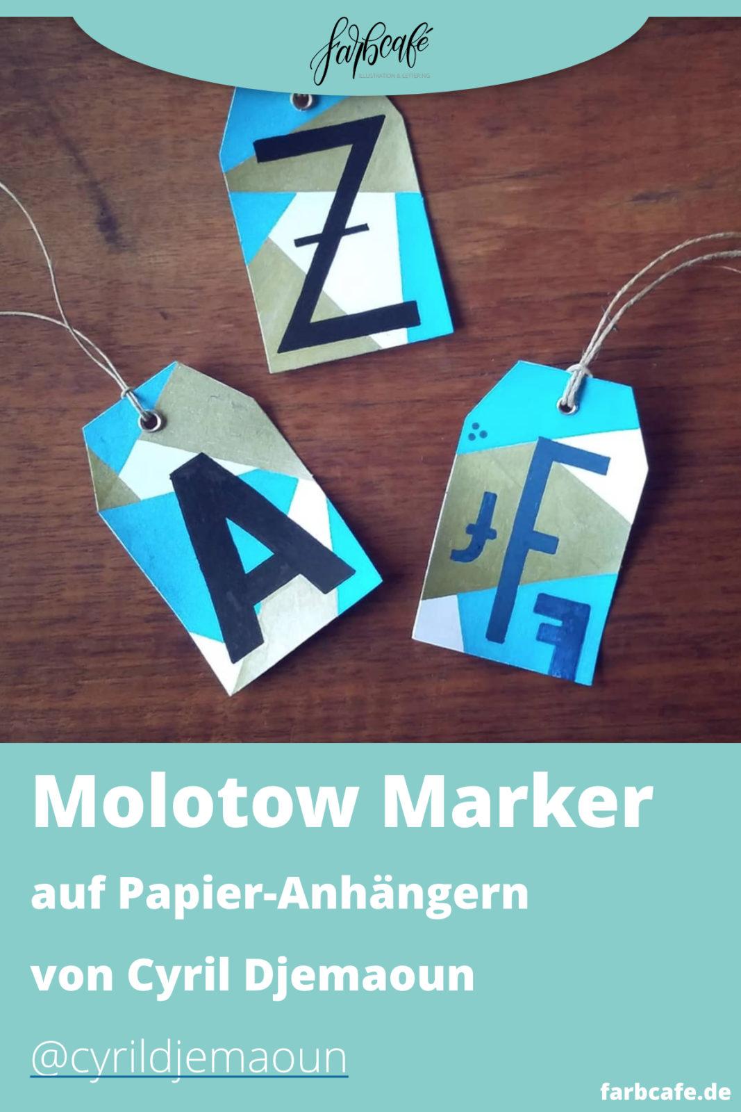 Molotow Marker auf Papier Anhängern von Cyril Djemaoun @cyrildjemaoun