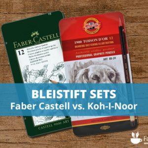 12er-Bleistift-Art-Set im Vergleich. Faber Castell vs. Koh-I-Noor