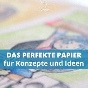 Das Malzeit Aquarellpapier eignet sich hervorragend für Konzepte und Farbtests.