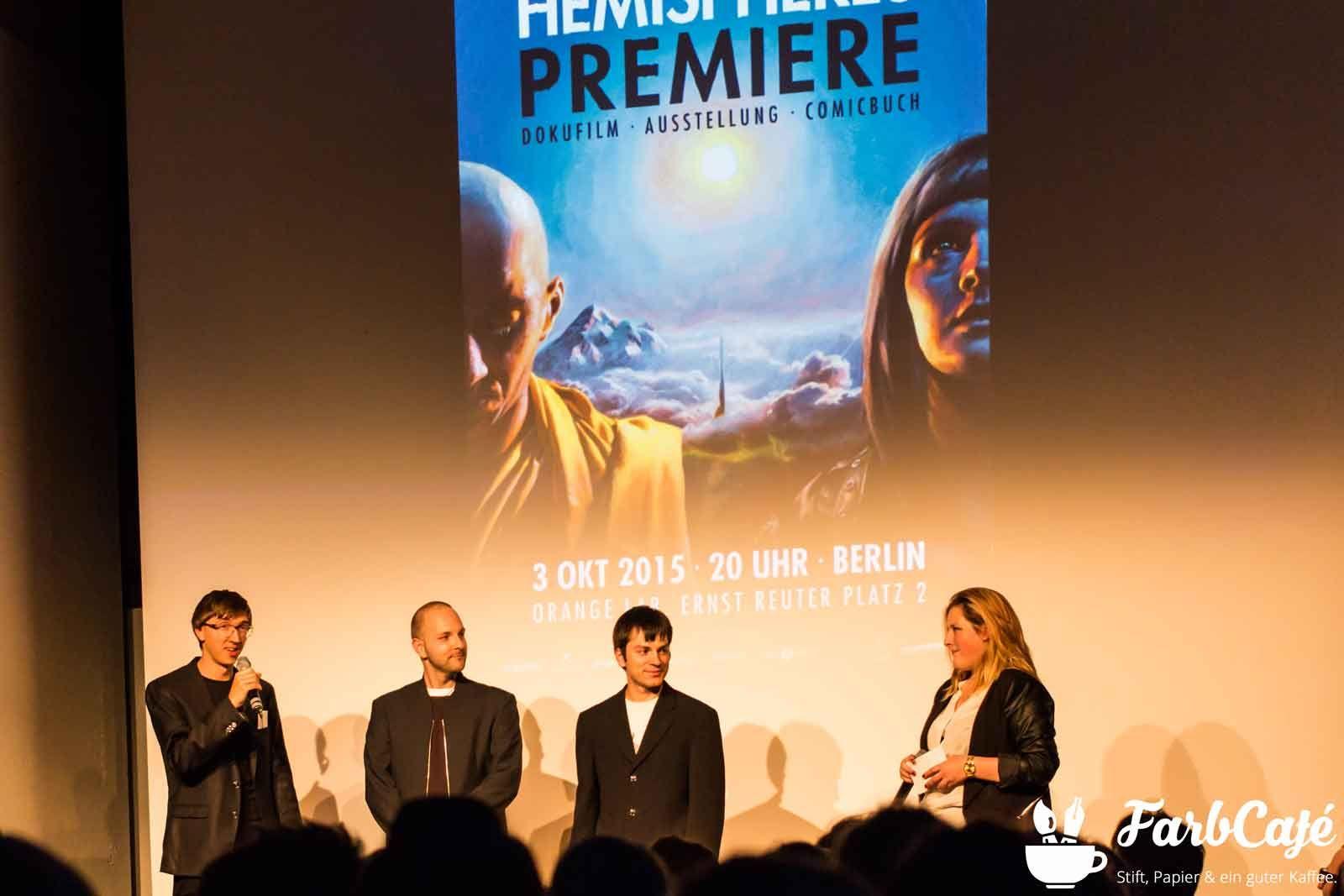 Christopher de la Garza, Simon Pape, Sascha Grusche bei der Premiere von Hemispheres