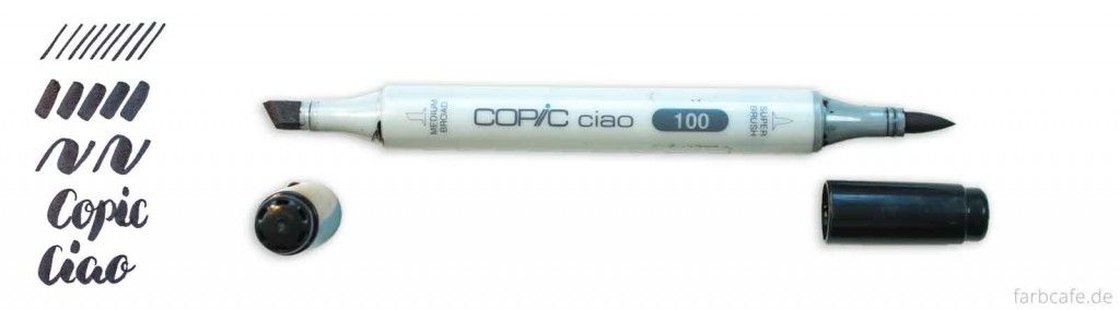 Copic Ciao Brush Pen Vergleich Strichtest