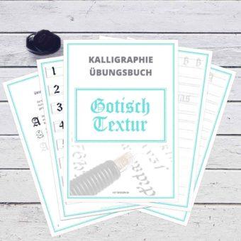 Gotisch Textur lernen ist mit dem Übungsbuch vom FarbCafé ganz leicht
