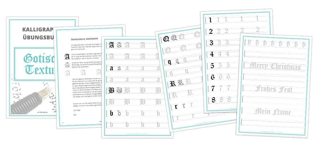 Lerne die traditionelle Kalligraphie mit dem Übungsbuch vom FarbCafé