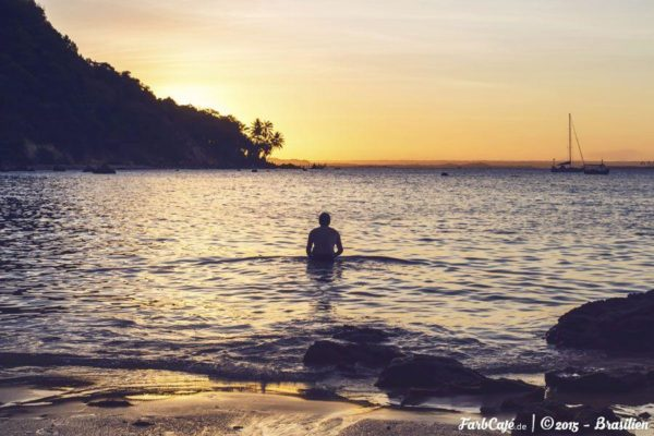 Abend-Bad auf der Ilha de Tinhare
