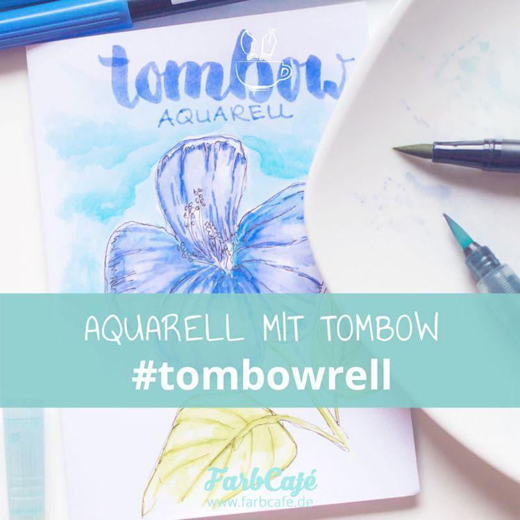 Die beliebten Tombows kann man auch zum Aquarellieren benutzen #Tombowrell