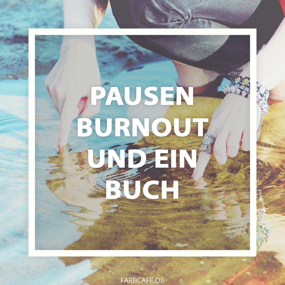 Ein Buch über Pausen für diejenigen, die unter Burnout leiden.