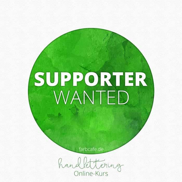 Supporter WANTED für Handlettering Online-Kurs!