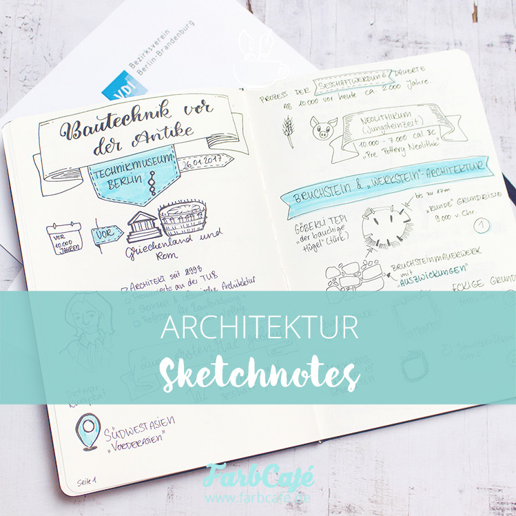 Architektur Sketchnotes von farbcafe.de
