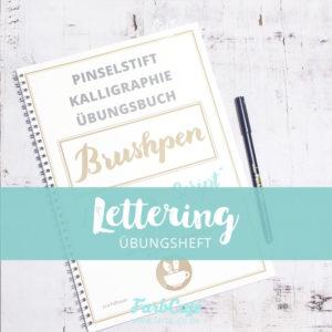 Mein BrushLettering Übungsbuch in Papierform auf Amazon