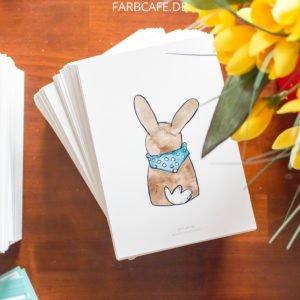 Häschen mit Halstuch - Postkarte