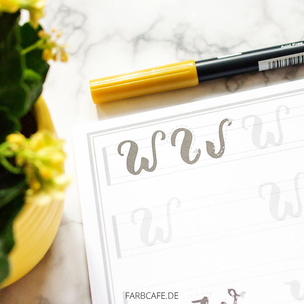 Brushlettering Guide zum Ausdrucken und loslegen