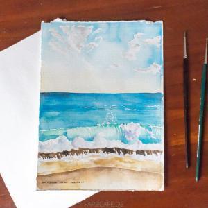 Ilha de Tinharé, Aquarell Illustration von FarbCafé