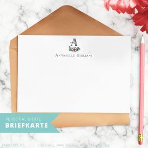 Briefkarten mit deinem Monogramm und Namen