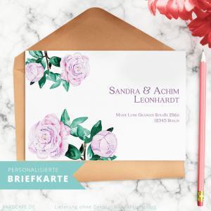 Personalisierte Briefkarten sind ein wunderbares Briefpapier oder Geschenk für aufmerksame Menschen.