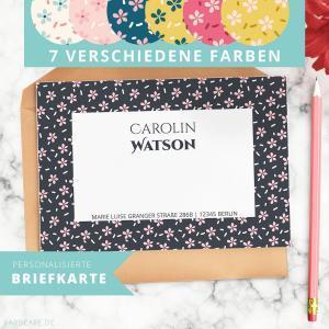 Endlich schöne Korrespondenz! Was ist der Mittelweg zwischen Postkarte und Brief? Eine Briefkarte. Sende diese personalisierte Briefkarte an Freunde und Verwandte und beeindrucke sie mit diesem persönlichen und speziellen Gruß!
