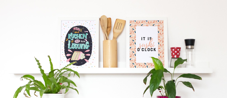 Poster-Gerahmt-Küche-gross - FarbCafe