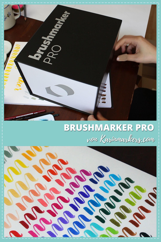 Die neuen Brushmarker von Karin-Markers ausgepackt und angetestet