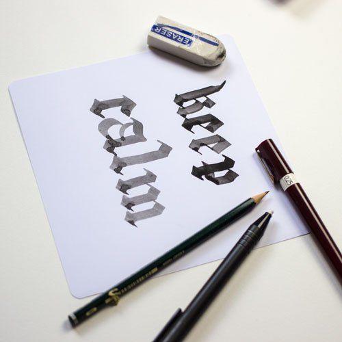 Keep Calm - Blackletter Kalligraphie FarbCafé