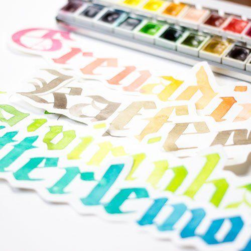 Getränkenamen Gotisch Textur Kalligraphie altdeutsche Kalligraphie farbcafe.de