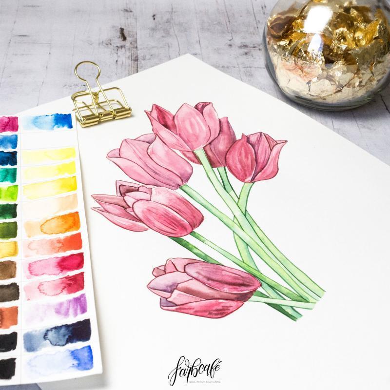Aquarell Blumen Malen Leicht Gemacht Die Grosste Anleitung Im Netz