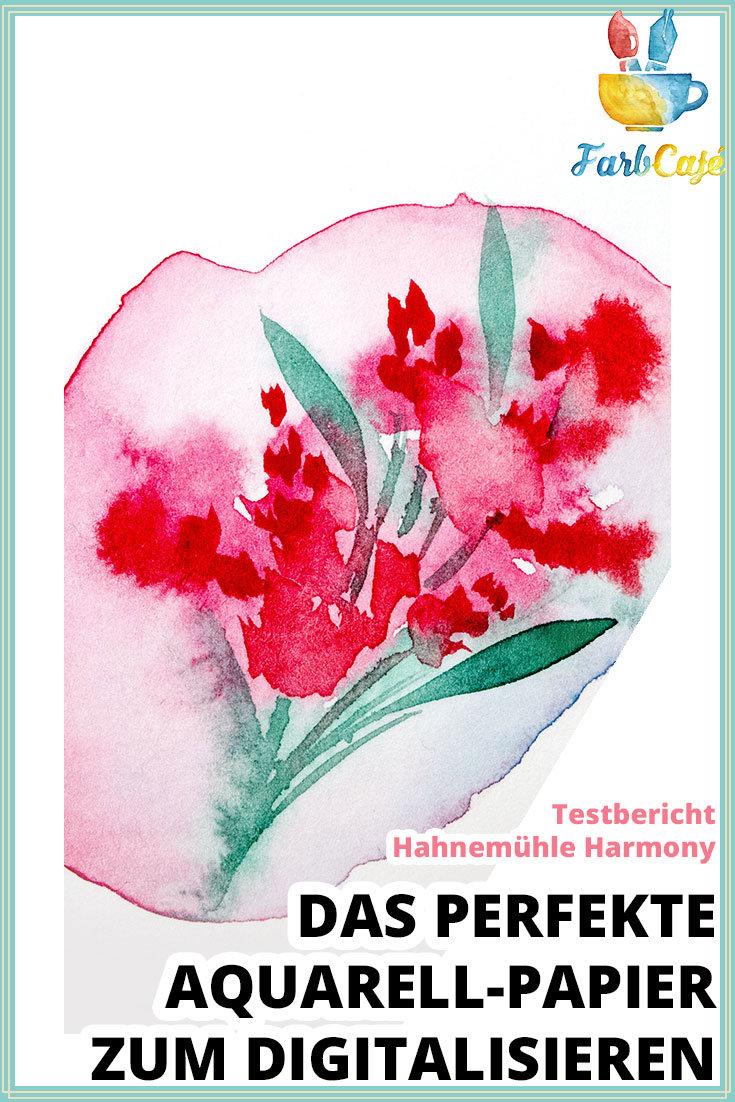 Hahnemühle Harmony digitalisiertes Blumenaquarell | Testbericht von farbcafe.de