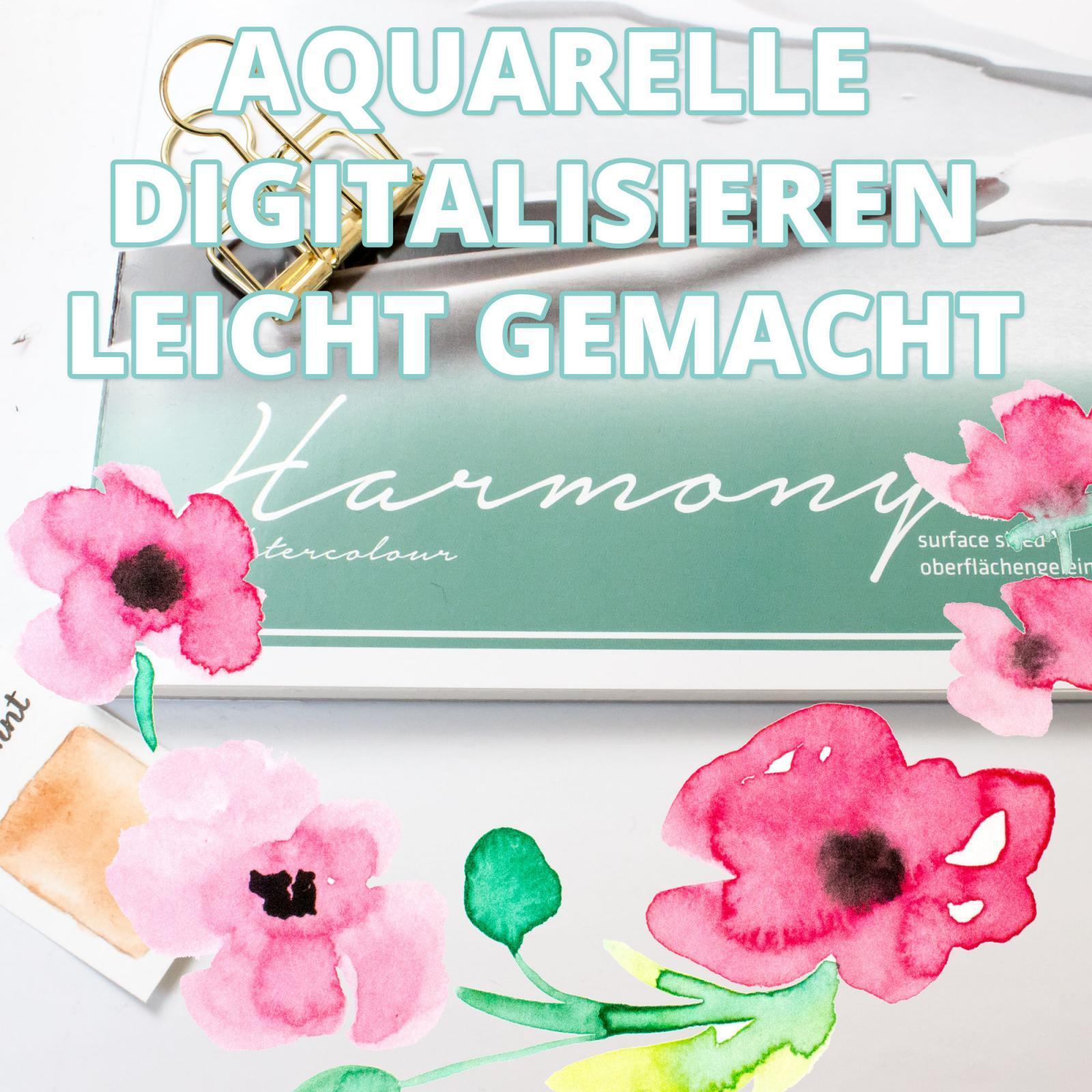 Hahnemühle Harmony Aquarellpapier | Aquarelle digitalisieren leicht gemacht | Testbericht mit Video von farbcafe.de