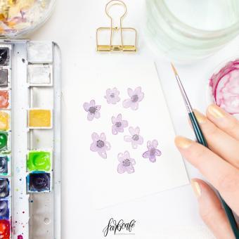 Aquarell Minikurs - Violetter Storchenschnabel