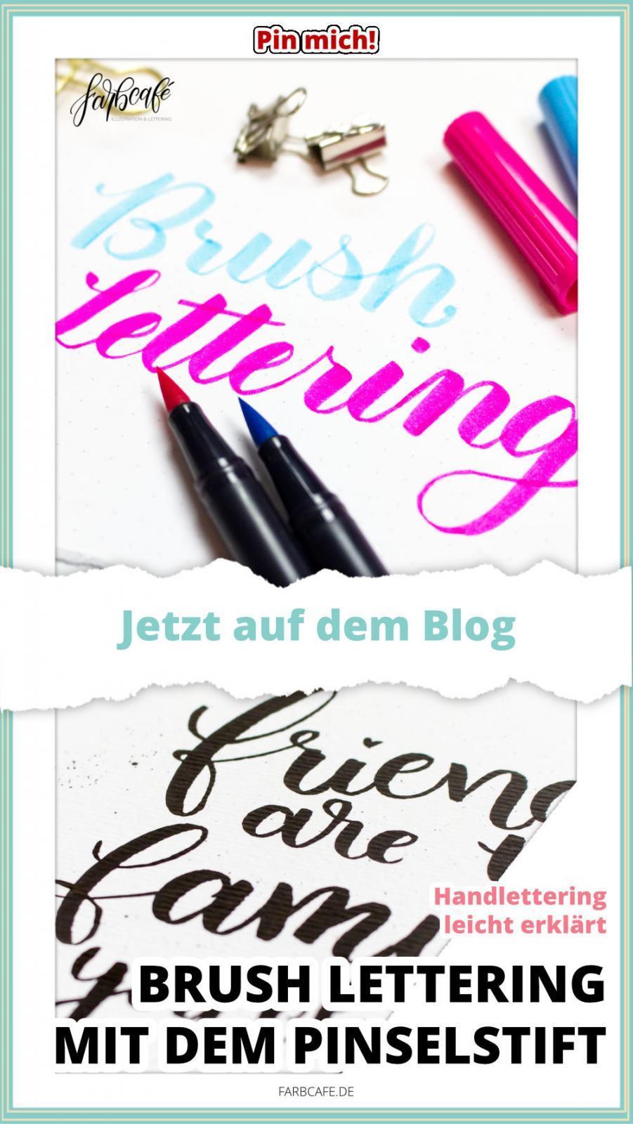 Brushlettering mit dem Pinselstift #handlettering