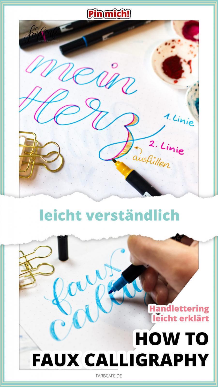 Faux Calligraphy leicht erklärt #handlettering