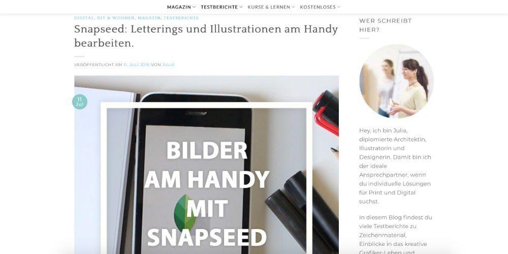 Handlettering in Snapseed bearbeiten