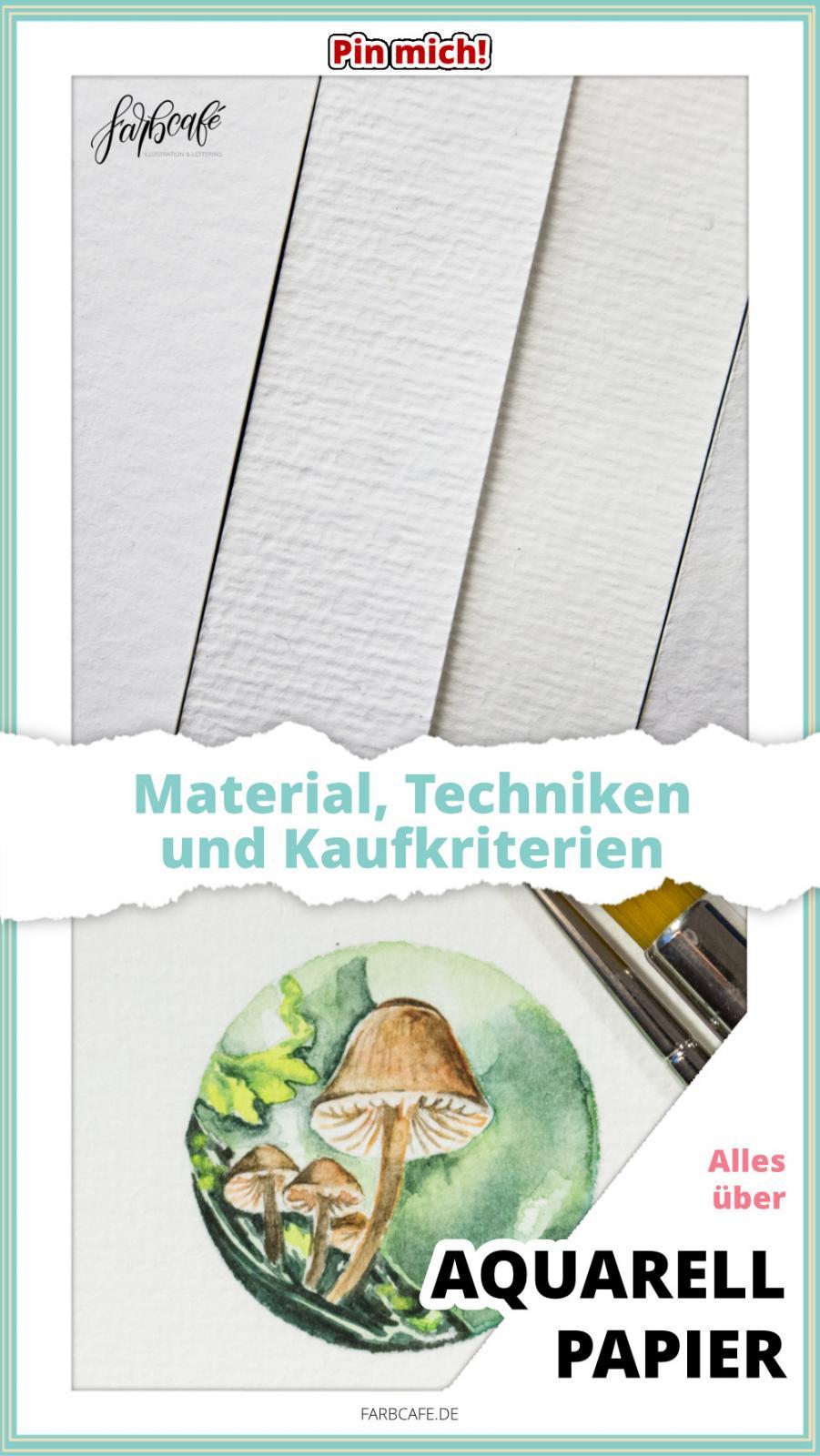 Der große Ratgeber zu #Aquarellpapier mit Materialien, Tipps, Techniken und Kaufkriterien